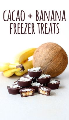 Delicious little frozen bites of banana and chocolate goodness. With a smidge of peanut butter for good measure!