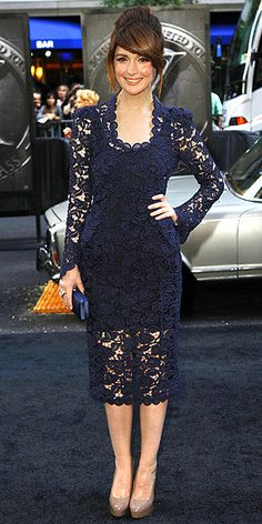Rose Byrne #HauteCouture Love it, would choose a different color for spring but adore the double length trend!