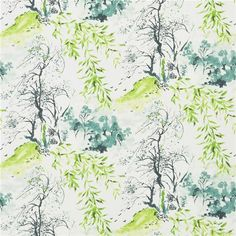winter palace - lime wallpaper | Designers Guild