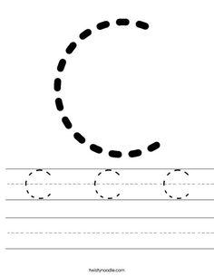 Tracing Letter C Worksheet