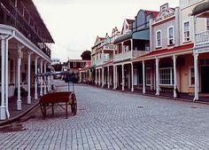 Tauranga New Zealand Historic Village quiet street view 1991
