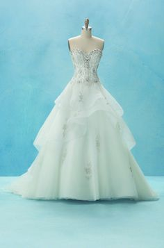 Alfred Angelo Bridal Style 217 (Belle) from Disney Fairy Tale Bridal Disney Belle Wedding, Belle Wedding Dresses, Disney Inspired Wedding, Belle Dress, Princess Wedding, Wedding Gowns, Belle Bridal, Princess Belle, Bridal Style