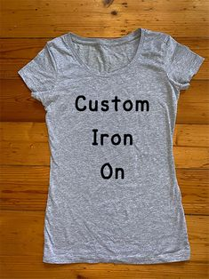 Custom Iron On Transfer Metallic Pink, Matte Gold, Iron On Transfer, Esty, Personalized T Shirts, Jumper, T Shirts For Women, Hoodies, Shopping