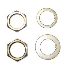Spindle Nut/Washer Kit; 41-45 Willys MB