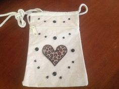 Small heart  purse or bag by Qoot2Boot on Etsy
