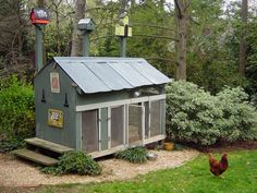 Chicken Coops chicken-coops Love the bird houses on top!!!!