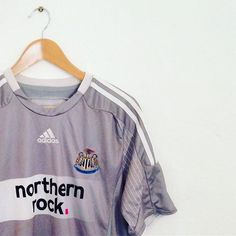 7744c9ef802 A smart silver Adidas Newcastle United away shirt from 2008/09... #