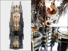 """Dutch lab reveals architectural steampunk cold drip coffee machine."" http://www.steampunktendencies.com/post/94071861729/"