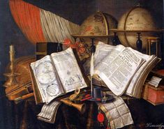 Edwaert Collier BREDA 1642 - 1708 LONDON(?) VANITAS STILL LIFE WITH A CANDLESTICK, MUSICAL INSTRUMENTS