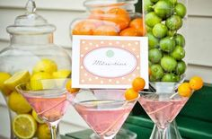 """Use kumquats as a colorful garnish to your """"Mere-tini"""" and bar display"""