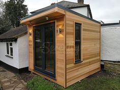 Outdoor Office, Backyard Office, Backyard Studio, Backyard Sheds, Backyard Patio, Small Garden Cabin, Garden Cabins, Small Garden Office Shed, Cool Sheds