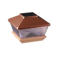 Shop Maine Ornamental Dekorators (Fits Common Post Measurement: 4-in x 4-in; Actual: 6.19-in x 6.19-in x 4.45-in) Copper Led Plastic Cedar Deck Post Cap at Lowe's Canada. Find our selection of post caps at the lowest price guaranteed with price match + 10% off.