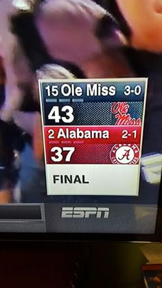 Best game ever!!! Ole miss a beast