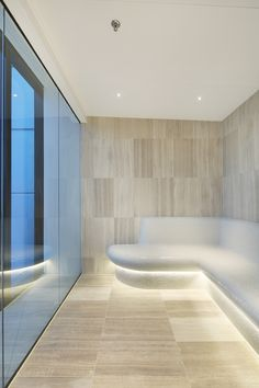 The Platinum Tower steam room located on level 52 allows you to relax and enjoy amazing views of Melbourne.