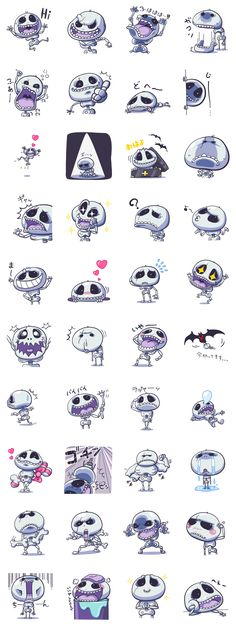 Another scary yet funny skeleton sticker set at LINE app. that I've found very interesting.Developer: NEGI || Sticker packet name: Kottu