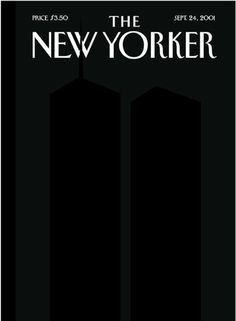 The New Yorker Sept. 24th, 2001.  Sometimes you can make a big statement in a very simple way.  This cover is a good reminder of that concept to all designers.