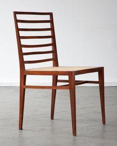 jacaranda and cane dining chair   designed by Joaquim Tenreiro, circa 1950
