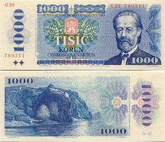 Czechia - Czech Korun Currency Bank Notes - Czech Republic Image Gallery - Banknotes of Czechia Money Notes, Business Checks, World Coins, Dramatic Play, Czech Republic, Childhood Memories, Retro, Vogue, Gallery
