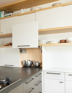 Before renovation, the kitchen of a 1915 historically listed bungalow in Oakland, California, had all the characteristics of kitchens of its day: dark, cra