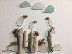 Meeting at the Pier! Sea glass and driftwood #seaglassideas #seaglassart #fakeseaglass