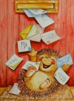 Obviously, I need to be a hedgehog to receive promised love letters.