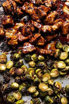 Chicken Brussel Sprouts, Brussels Sprouts, Ginger Chicken, Sesame Chicken, Asian Recipes, Healthy Recipes, Easy Recipes, Sprout Recipes, Half Baked Harvest
