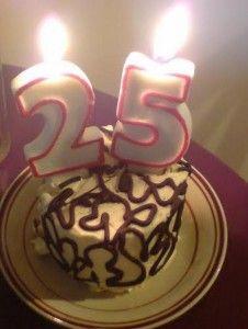 Birthday Cake 25 Candles