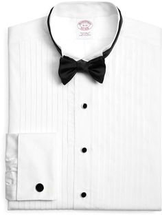 Brooks Brothers White Ten-Pleat Wing Collar Formal Tuxedo Shirt on shopstyle.com