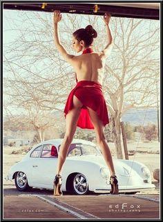 Porsche 356 and girl #porsche #cargirl