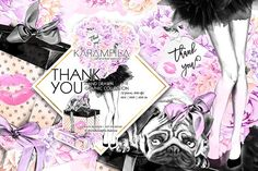 Fashion Birthday Girl Clipart by Karamfila on @creativemarket