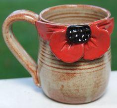 Poppy Mug by mudworks on Etsy