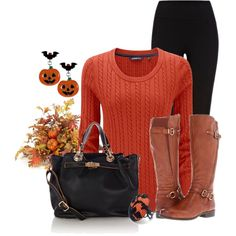 """""""My Halloween Day Outfit ,No Costume for Me"""" by lisamoran on Polyvore"""