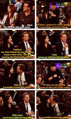 I love Barney and Robin together!!!!