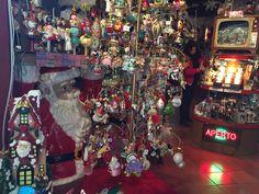 Detalle de una tienda de Navidad en Sanmarino