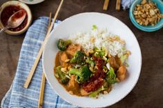 Recipe: Creamy Slow-Cooker Peanut Chicken and Broccoli — Recipes from The Kitchn | The Kitchn