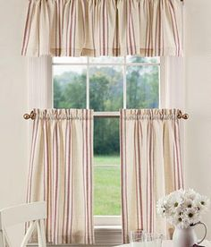 French Ticking Tier Curtains                                           - Country Curtains®