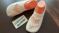 Heart-pearly shaped dowry making easy crochet booties (design)) - Örümcekli patik modeli, patik örnekleri /How to easy crochet booties tutorial /flowers – YouTu - How To Do Crochet, Easy Crochet, Crochet Baby, Free Crochet, Crochet Slipper Pattern, Crochet Slippers, Booties Crochet, Crochet Senegalese, Puff Stitch Crochet