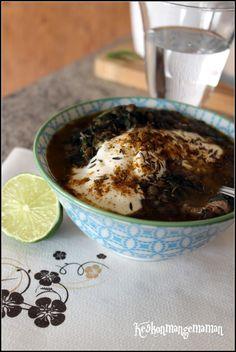 Keskonmangemaman?: Cuisiner pour la paix , le Liban : soupe de lentilles aux épinards , citron , cumin et yaourt