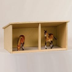 Solid Wood Amish Made Horse Shelter and Stockyard Toy Set