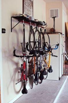 Bike Rack Photos and Bike Stand Photos - Ideas para interiores # bike . - Bike Rack Photos and Bike Stand Photos – Ideas de interior # bike # ideas amuebladas - Bicycle Storage Garage, Vertical Bike Storage, Bike Storage Rack, Diy Garage Storage, Bicycle Garage, Garage Hooks, Bike Racks For Garage, Outdoor Bike Storage, Wooden Bicycle