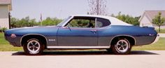 1969 GTO Judge, Liberty Blue with white vinyl top