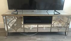 Sahara Mirrored TV Unit - House of Sparkles #mirror #glam #furniture #design