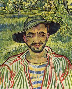 """Vincent van Gogh, """"Il giardiniere"""", 1889, olio su tela. Roma, Galleria Nazionale d'Arte moderna e contemporanea"""