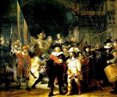 Rembrandt Harmenszoon Van Rijn foi um importante pintor e gravador holandês. É considerado um dos mais importantes pintores do barroco europeu. Nasceu em 15 de julho de 1606 na cidade de Leiden e faleceu em Amsterdam em 4 de outubro de 1669. Obra: Ronda Noturna - 1642