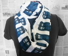 Dr who Scarf Tardis Scarf Whovian Clothing Womens by RoobyLane, £25.00