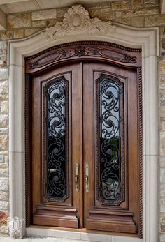 adore this entry, the detail of the doors | The award winning Château | d'alessio