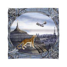 Scarf 90 cm x 90 cm Odyssée de Cartier motif. What a beautiful scarf! 24423bc1a2a