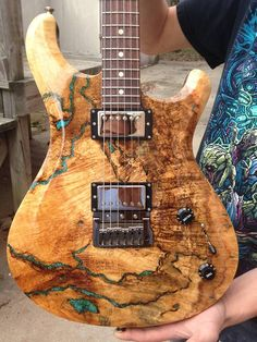 Knaggs Guitars  Severn T3 Trembuck with Natural Spalt Maple top and Chrysocolla stone inlay