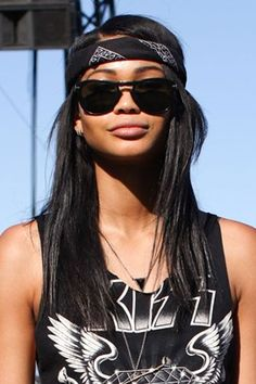 proof it's not so weird that I do this year-round.  Chanel Iman at Coachella 2012