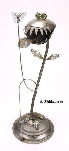 Venus Flytrap Metal Sculpture